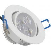 Lampada Spot Aluminio Led 3w Branco Frio 6000k