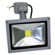 Refletor Led 10w - Sensor Presença Uso Externo - Branco Frio