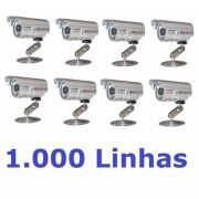 10 Cameras Cftv Infravermelho Ccd Day Night 600l 40mts