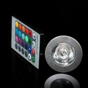 Lâmpada Rgb Led Spot E27 3w Bivolt 16 Cores Controle Remoto - ILIMITI SHOP