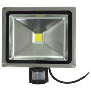Refletor Led 20w Branco Frio Sensor De Presença Uso Externo - ILIMITI SHOP