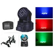 Kit 2 Moving Head 18 Leds Rgb 3w Efeito Strobo Dmx Bivolt - ILIMITI SHOP