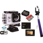 Sports Cam Wifi Prova Dagua X4000 + 16gb + Kit Bateria Extra - ILIMITI SHOP