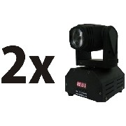 2 Mini Beam Moving Head Led 12w Cree Rgbw Dmx, Strobo, Prof