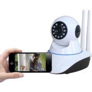 Câmera Ip Hd Visão Noturna Wireless Controle Na Internet