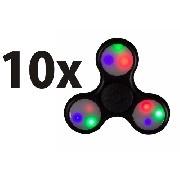 Kit 10 Anti Ansiedade Hand Spinner Fidget Spinner Com Led - ILIMITI SHOP