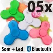 Kit 05 Fidget Hand Spinner Bluetooth Anti Stress E Ansiedade - ILIMITI SHOP