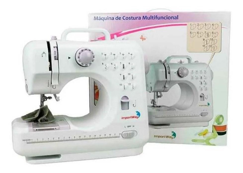Máquina De Costura 12 Pontos Iwmc-505c C Kit Agulha Bivolt - ILIMITI SHOP