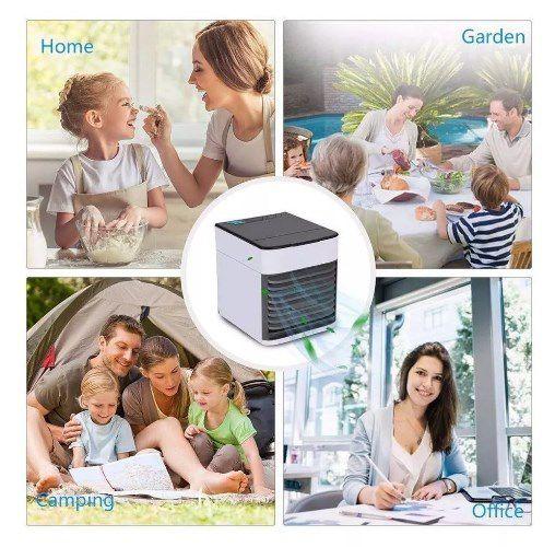 Mini Ar Condicionado Climatizador Umidificador Colorido Portátil - ILIMITI SHOP