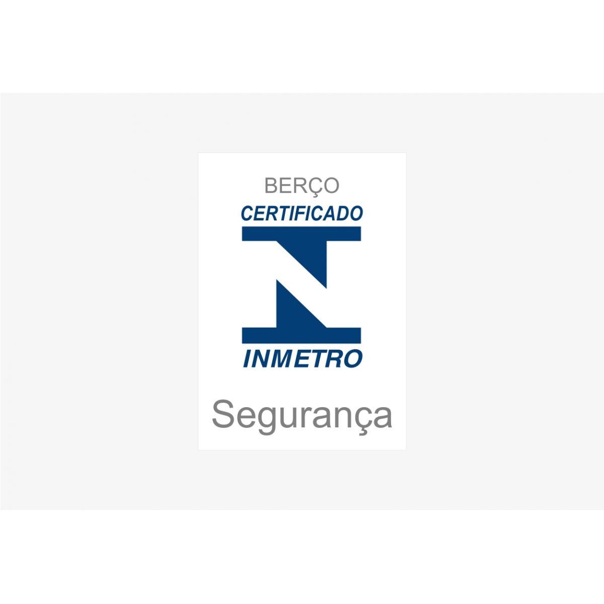 Berço com Certificado do Inmetro e Rodízios Encanto - Santos Andirá