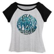 Camiseta Raglan Feminina Luan Santana Eu, Voc�, o Mar e Ela