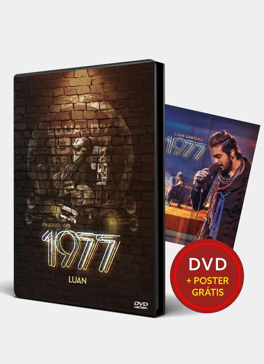 DVD Luan Santana 1977 + Pôster Grátis
