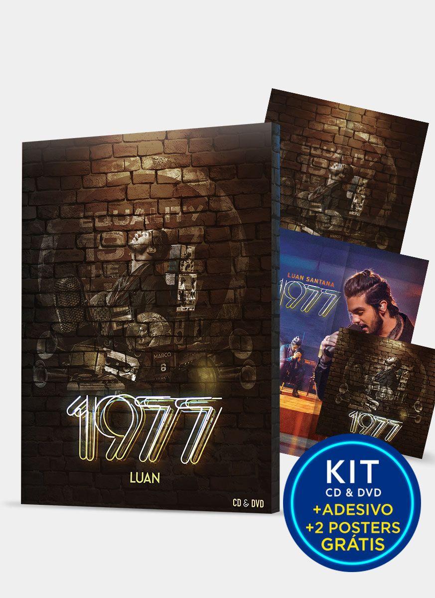 Kit CD+DVD Luan Santana 1977 + 2 Pôsteres e Adesivo GRÁTIS