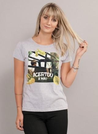 Camiseta Feminina Luan Santana Acertou a Mão