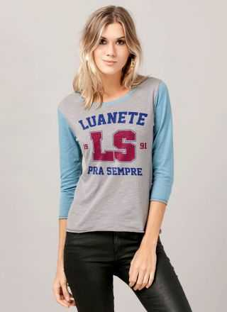 Camiseta Manga Longa Feminina Luan Santana Luanete Pra Sempre