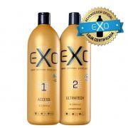 EXO Hair Exoplastia Capilar  (Shampoo Access + Ultratech Keratin 2x1Litro)  + BRINDE