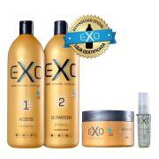 Kit Exoplastia  capilar 2x1litro + Nano Máscara + Óleo Reparador 30ml Exo hair
