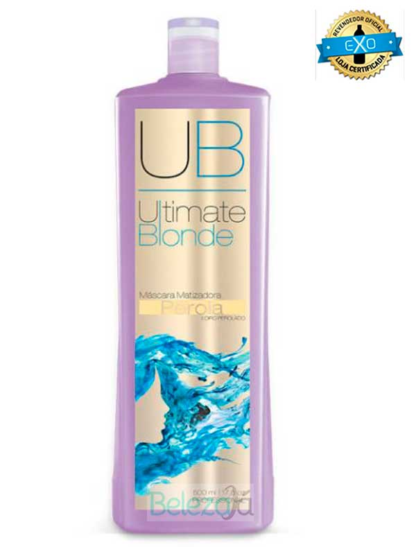 Máscara Matizadora Pérola - Ultimate Blonde UB 500ml EXO HAIR