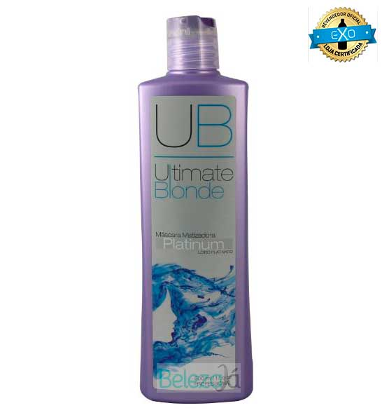 Máscara Matizadora Platinum - Ultimate Blonde UB  500ml EXO HAIR