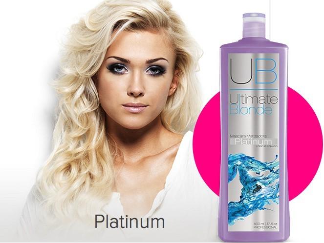 Máscara Matizadora Platinum - Ultimate Blonde UB  500ml EXO HAIR