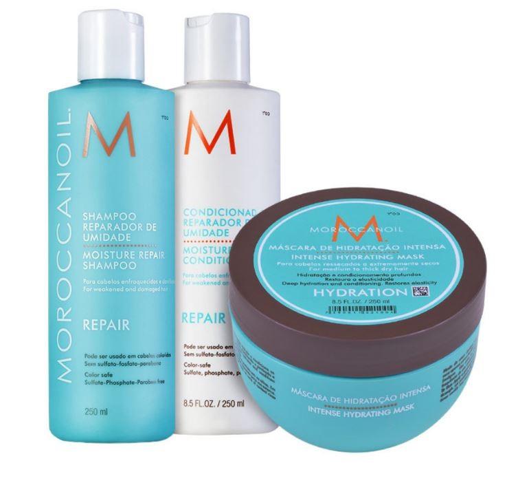 Kit Trio Moisture Repair Moroccanoil (3 produtos)