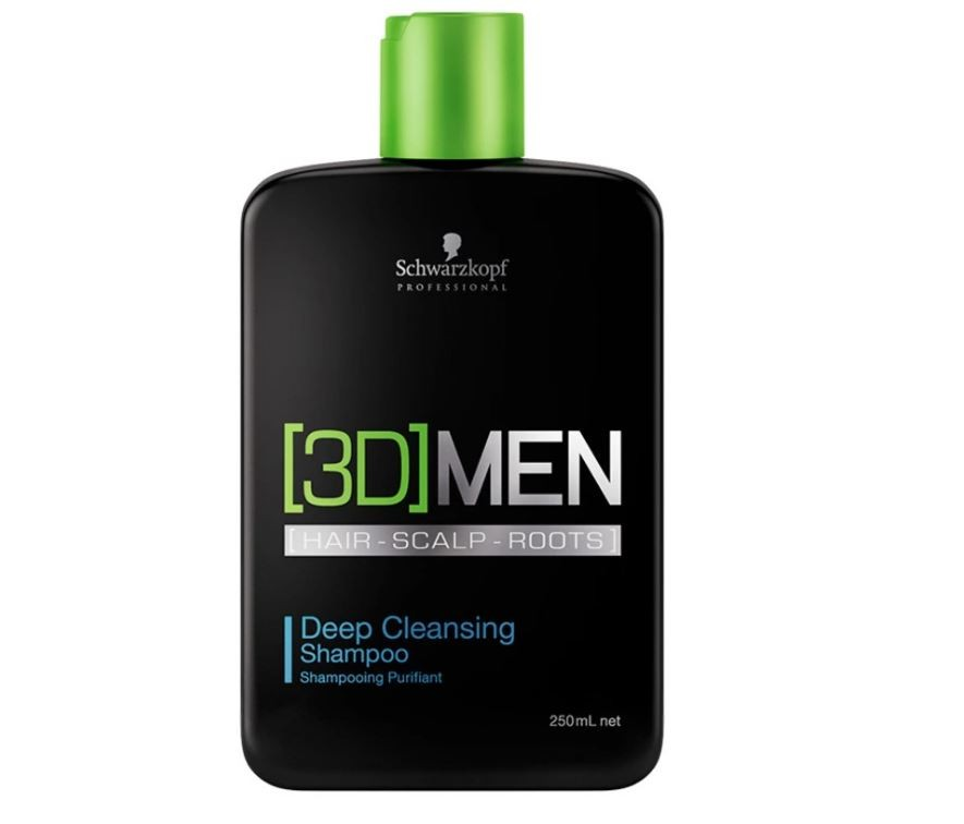 Shampoo Antioleosidade Deep Cleansing 3D Men Schwarzkopf 250ml