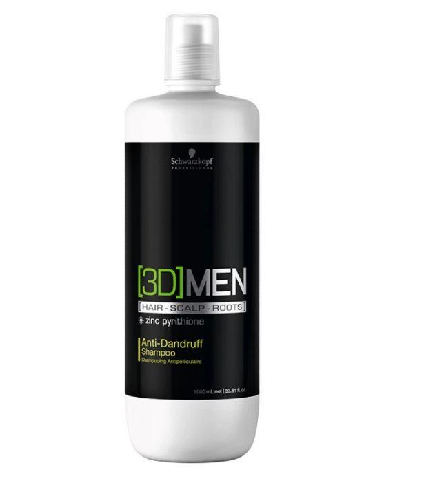Shampoo Anti-Caspa Anti-Dandruff 3D Men Schwarzkopf 1000ml