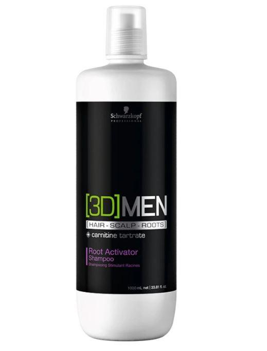 Shampoo Root Activator 3D Men Schwarzkopf 1000ml