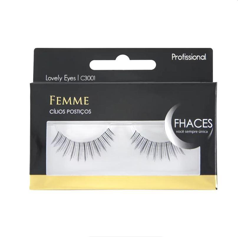Cílios Postiços - Femme Lovely Eyes C3001 - Fhaces