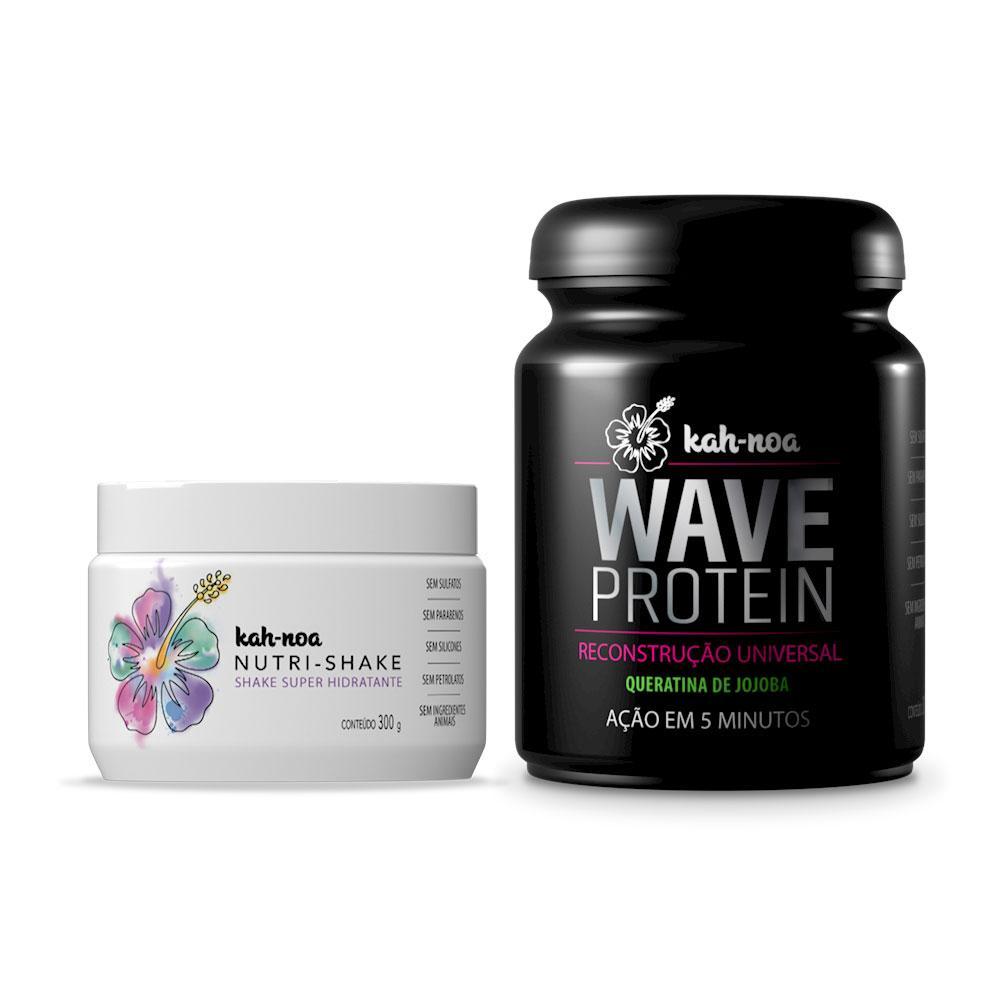 Combo Kah-Noa Tratamento Máscara Nutrishake 300g + Máscara Wave Protein 300g