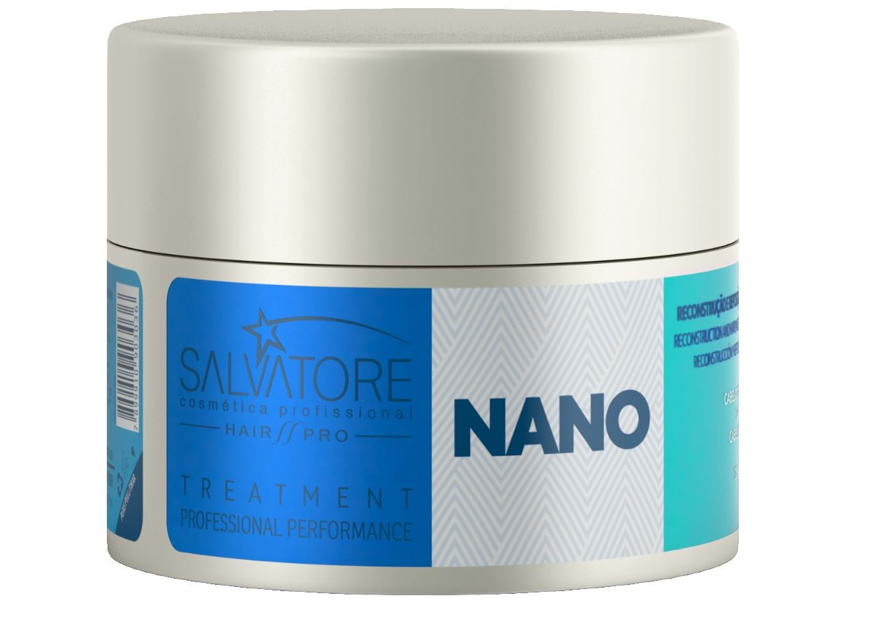 Kit Nano Reconstrutor Shampoo + Condicionador Salvatore + Necessaire
