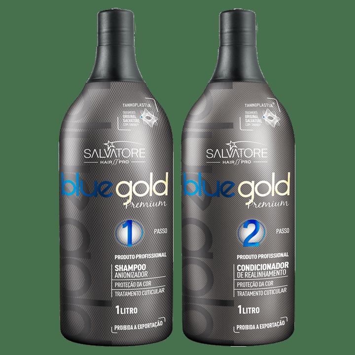 Escova Progressiva Blue Gold Premium - 1L  Salvatore