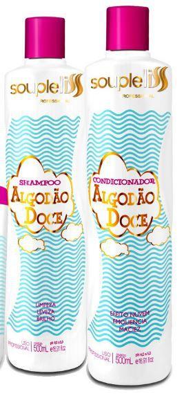 Kit Algodão Doce - Souple Liss Shampoo + Condicionador 2 x 500 ml