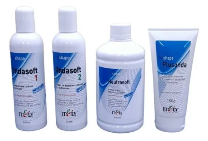 Kit Completo Liquido Permanente 1 e 2 / Neutralizante e Ativador Ondasoft Itely