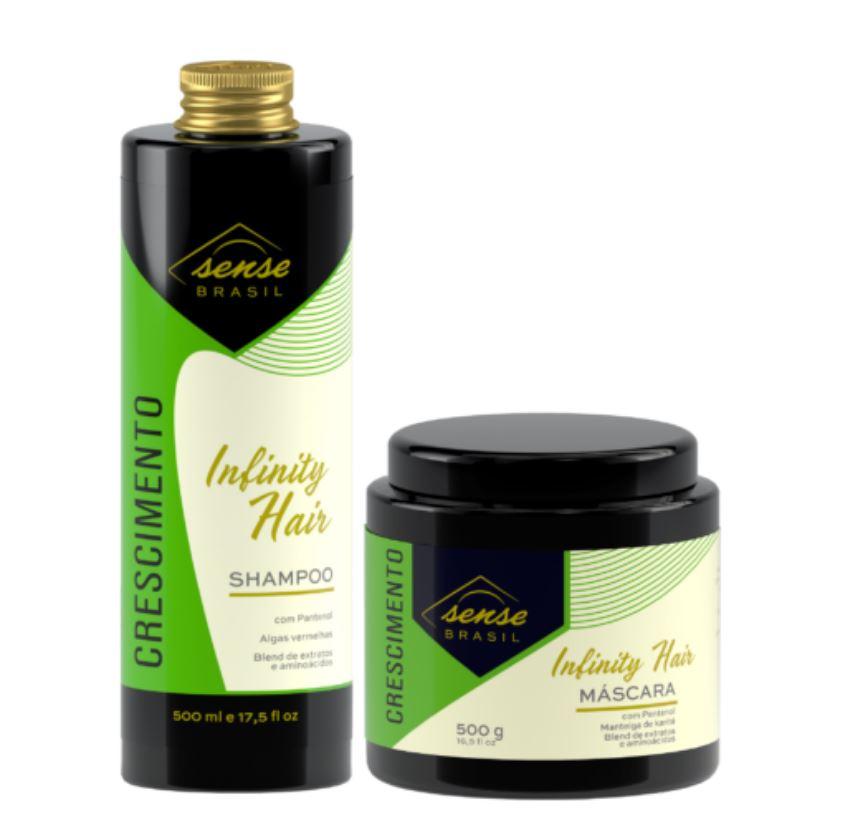 Kit Crescimento Infinity Hair Sense Brasil Shampoo e Máscara