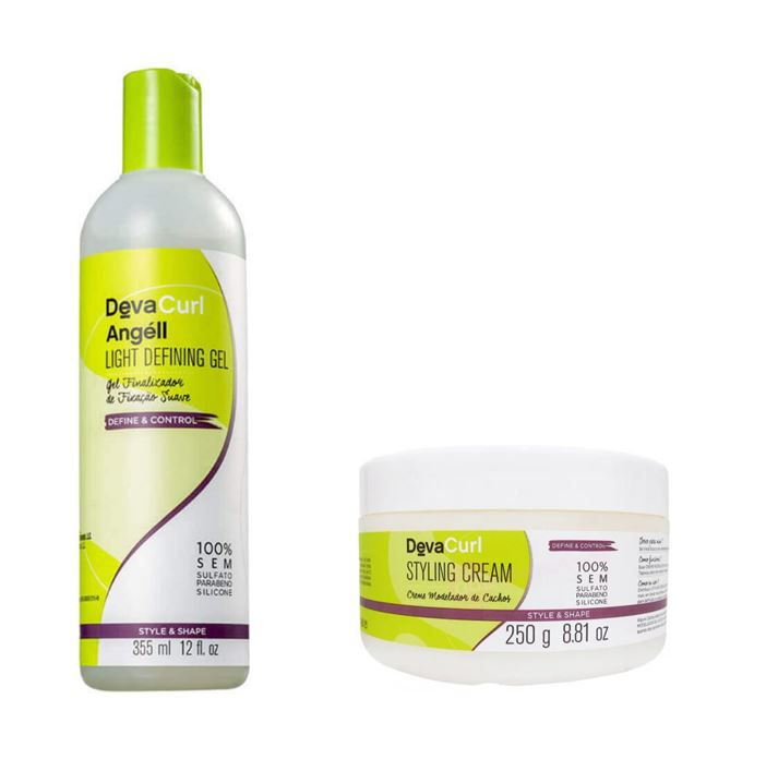 Kit Deva Curl Angéll Finalizador 355ml + Styling Cream 250g