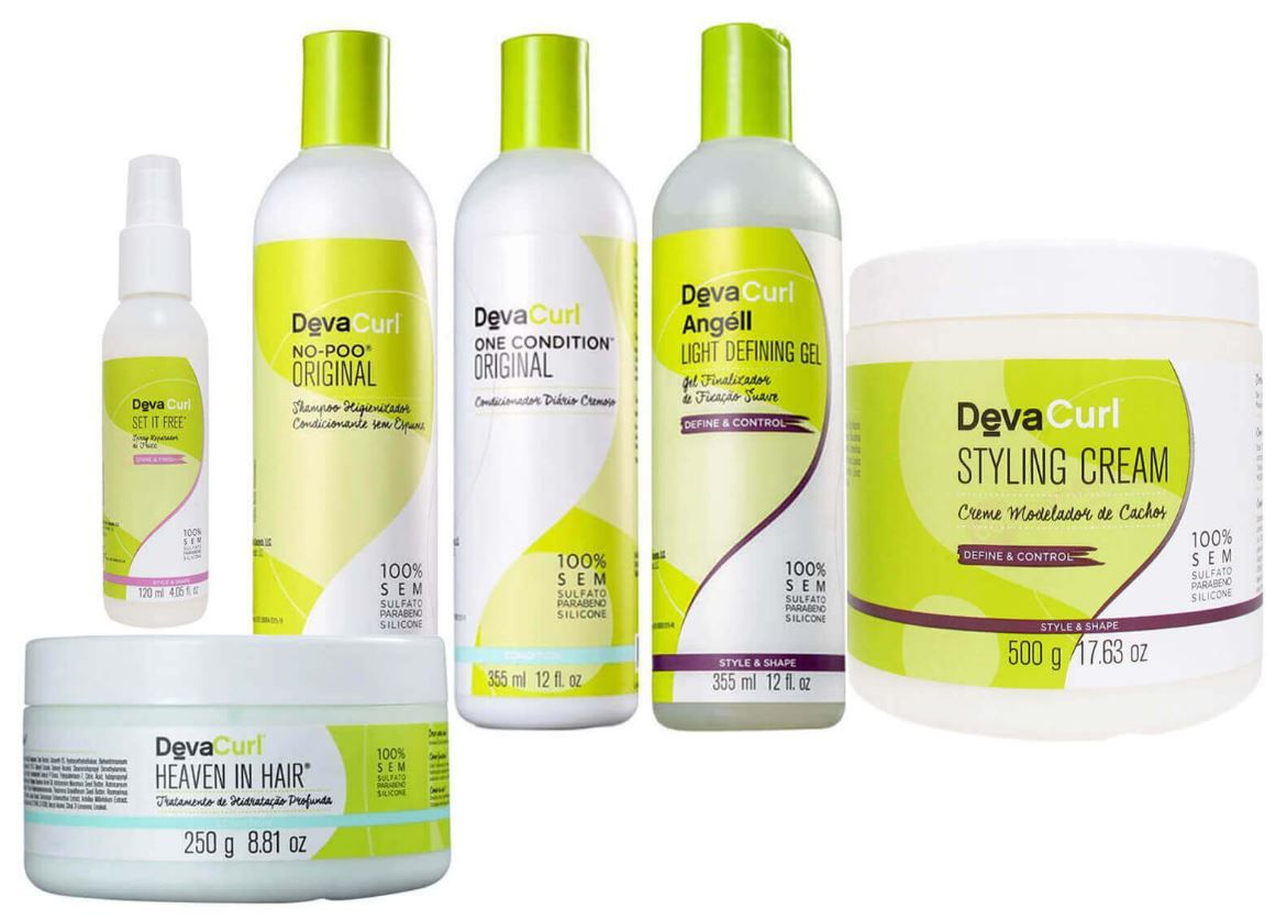 Kit Deva Curl Completo Set It Free  - 6 Produtos