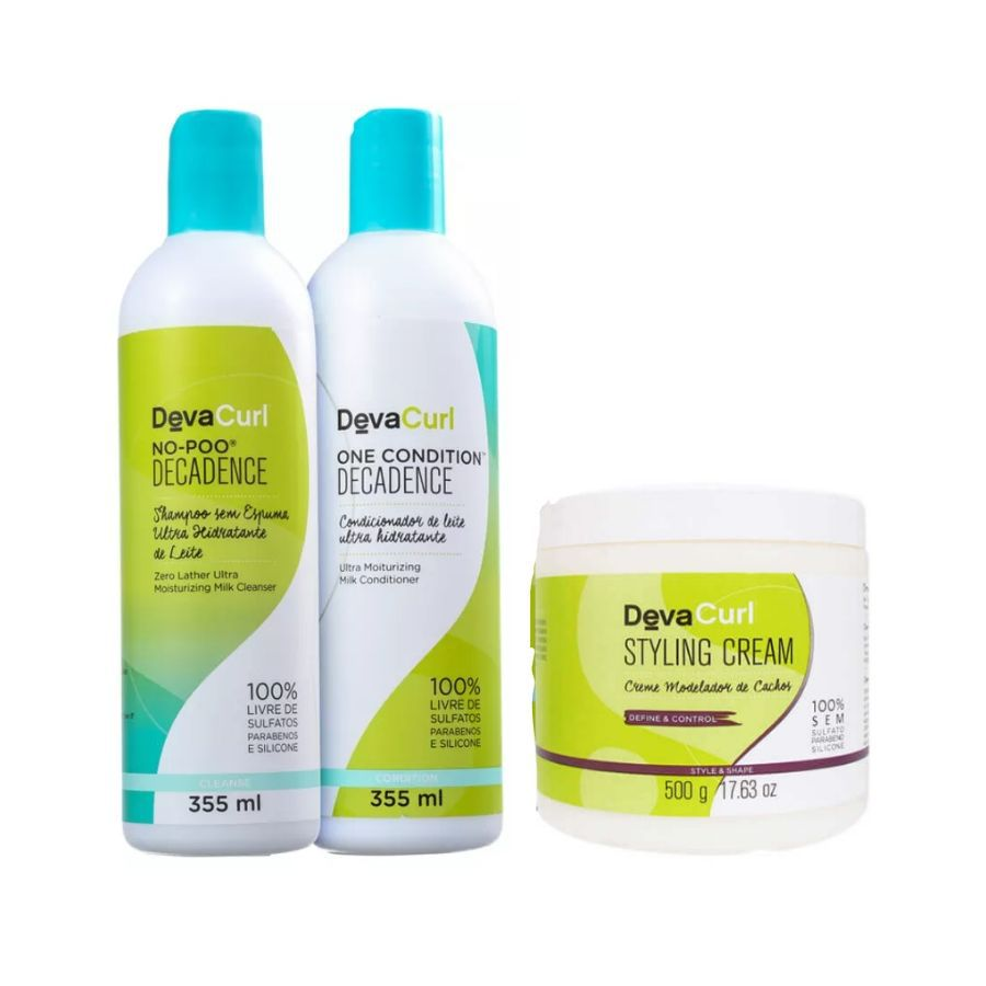 Kit Deva Curl Duo Decadence 2x355ml + Styling Cream 500g