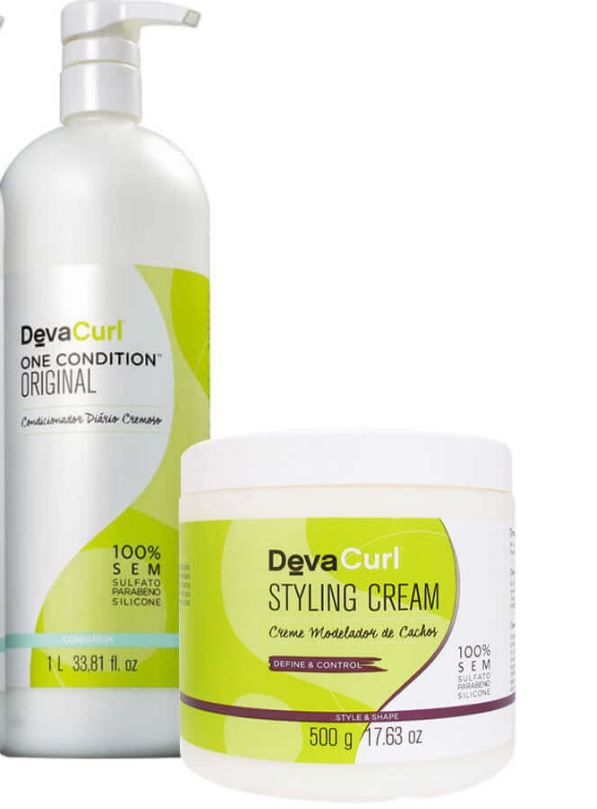 Kit Deva Curl One Condition 1L + Styling Cream 500g