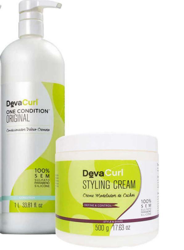 Kit Deva Curl One Condition 1L + Styling Cream 500g