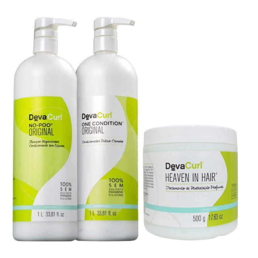 Kit Deva Curl One Condition+No Poo+Heaven in Hair