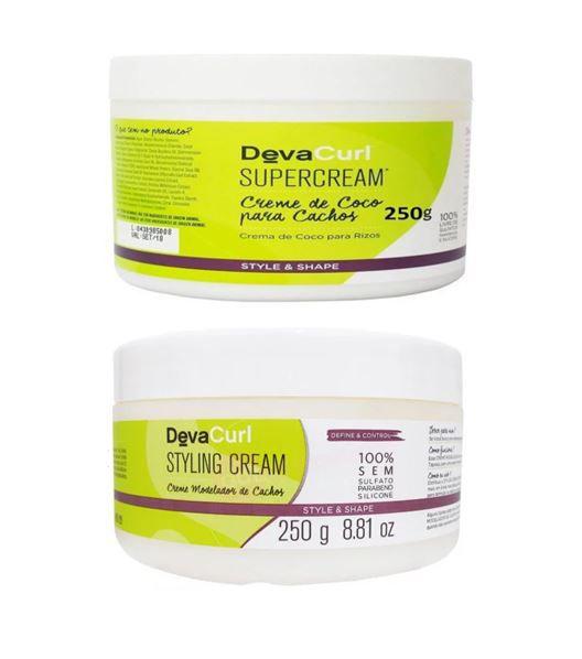 Kit Deva Curl Styling Cream Creme para Cachos 250gr + Deva Curl SuperCream para Cachos 250g