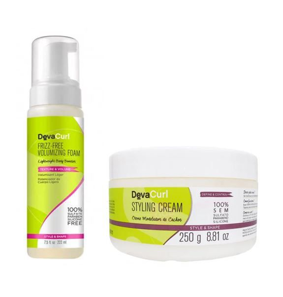 Kit Deva Curl Styling Cream + Frizz-Me Volumizing Foam Mousse