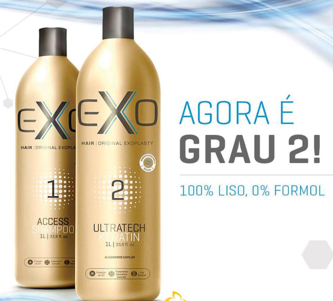 Kit Exo Hair Ultratech Exoplastia Capilar 2x500ml + !