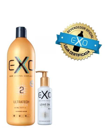 Kit  Exoplastia Capilar Exo Hair Ultratech Keratin 500ml passo 2 + Leave On Repair Exo Hair 140ml