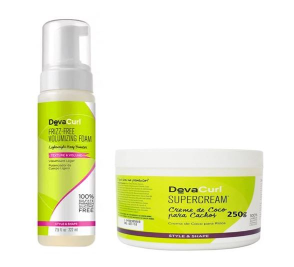 Kit Frizz-Me Volumizing Foam Mousse  150ml +  SuperCream 250g Deva Curl