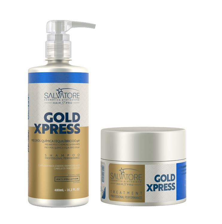 Kit Gold Xpress Shampoo + Condicionador Salvatore