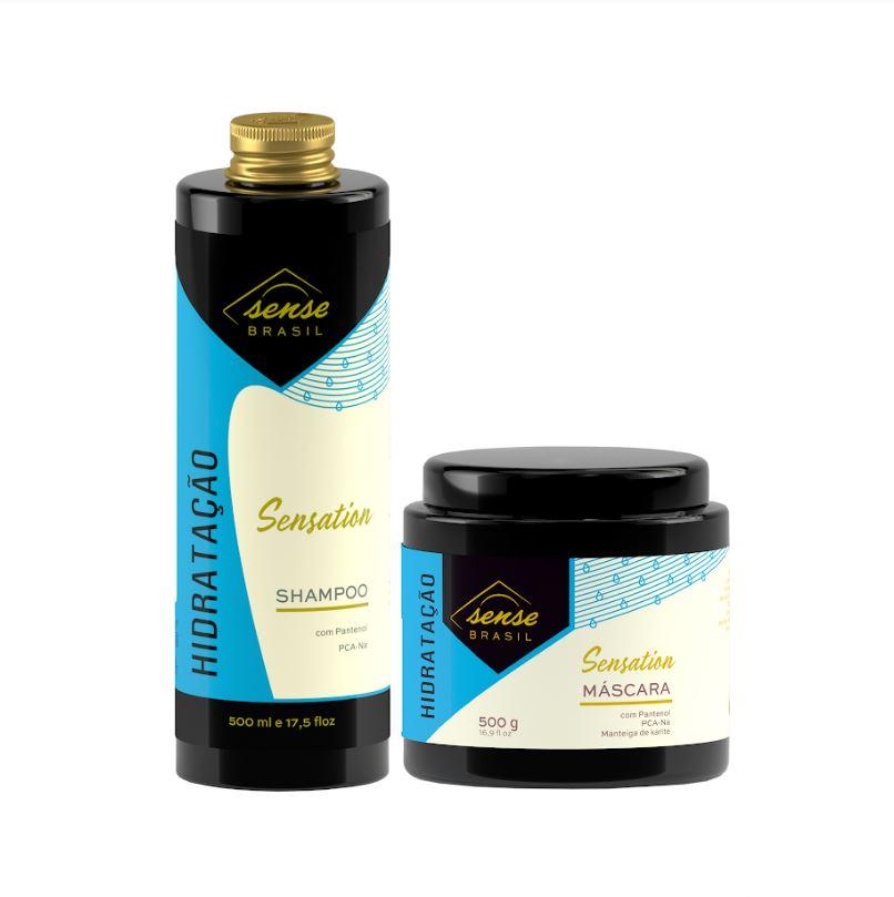 Kit Hidratação Sensation Sense Brasil Shampoo e Máscara