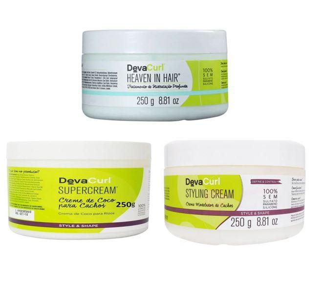 Kit Hidratante Deva Curl 3 x 250 g