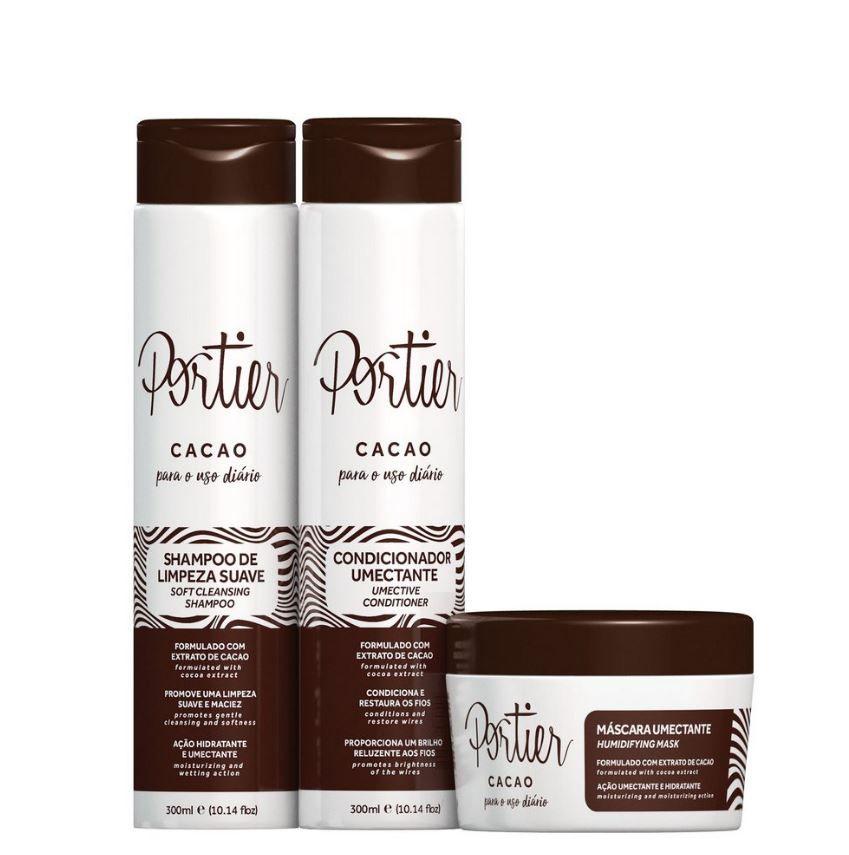 Kit Manutenção Pós Química Cacao - Portier Uso Diário (3 Produtos)